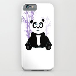 Panda Girl - Purple iPhone Case