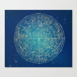 Zodiac and Stars 4-17 Canvas Print
