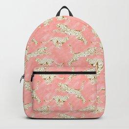 CHEETAH PROWL Blush Gold Cheetahs Backpack