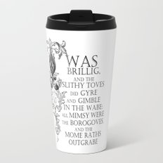 Alice In Wonderland Jabberwocky Poem Travel Mug