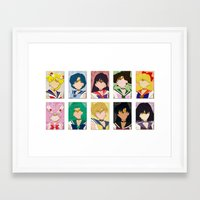 sailor moon Framed Art Prints featuring Sailor Moon by Moonblossom