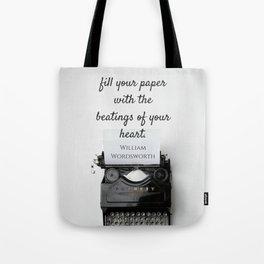 Wordsworth Quote Tote Bag