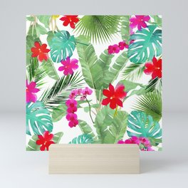Tropical Chic Watercolor Pattern Mini Art Print