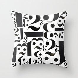1 2 3 Throw Pillow