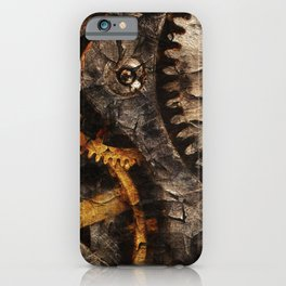 Gearing Up - Steampunk Gears iPhone Case
