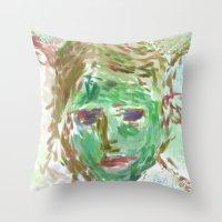 grim fandango Throw Pillows featuring grim by Osome Beamer