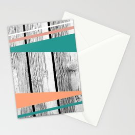 Colored arrows on wood Stationery Cards