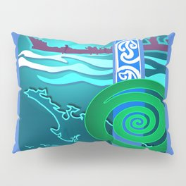 New Zealand Waka Map Pillow Sham