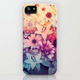 Hipster Flowers iPhone Case