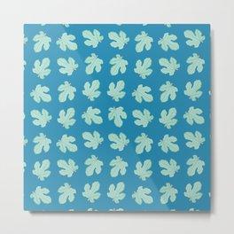 Fig Tree Leaves Pattern Metal Print