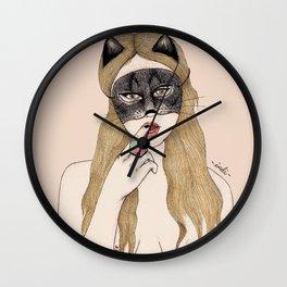 CAT MASK Wall Clock