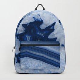 Blue Agate Chic #2a #gem #decor #art #society6 Backpack