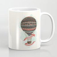 baloon Mugs featuring have love, will travel by Laura Graves