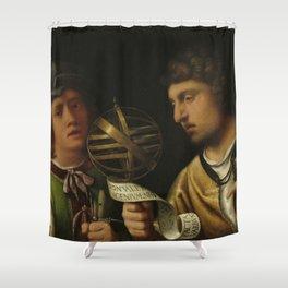 """Giorgione """"Giovanni Borgherini and His Tutor"""" Shower Curtain"""