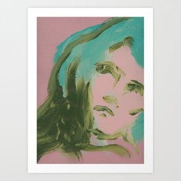 Looking At You, in Pink Art Print