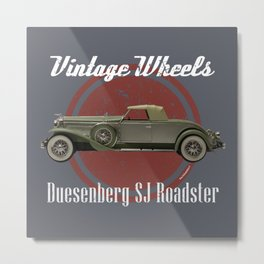 Vintage Wheels: Duesenberg SJ Roadster Metal Print