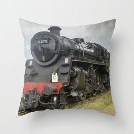 Beautiful steam train Throw Pillow