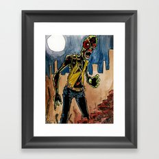 zombie in the ruins Framed Art Print