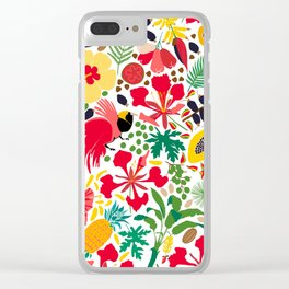 tropical botanical Clear iPhone Case