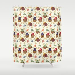 Bears and Hats Shower Curtain