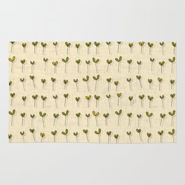 sprouts cream Rug
