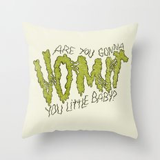 BABY PUKER Throw Pillow