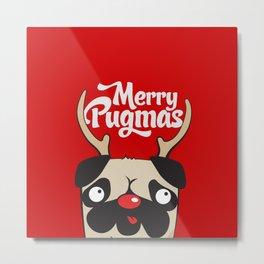 Merry Pugmas Metal Print