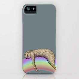 Nap (Sloth & Rainbow 2) iPhone Case