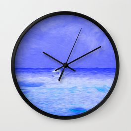 Seascape Art Wall Clock