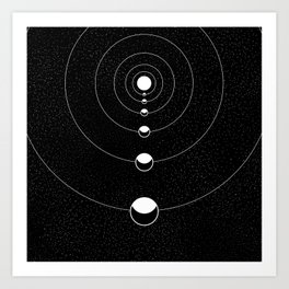 ECLIPSE LINE Art Print