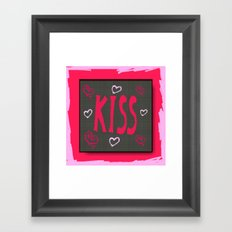 The Kiss,Valentine Framed Art Print