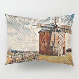 Old Wind Mill Pillow Sham