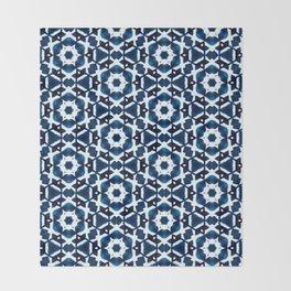 Shibori Watercolour no.4 Throw Blanket