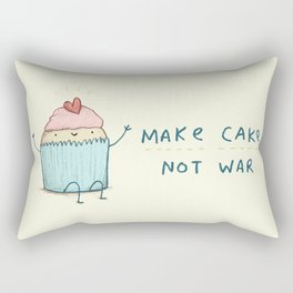 Make Cake Not War Rectangular Pillow