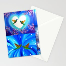 Blue designs Stationery Cards