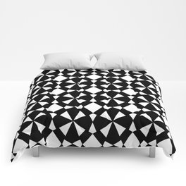 black and white symetric patterns 3- Comforters