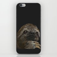 sloth iPhone & iPod Skins featuring SLOTH  by JosephMills