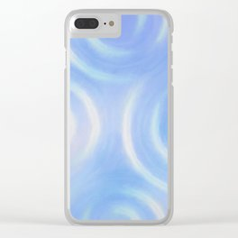 Blue Swirlies Clear iPhone Case