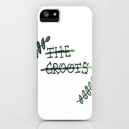 THE GROOTS LEAVES ARTWORK iPhone Case