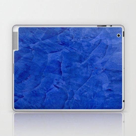 Dark Blue Ombre Burnished Stucco - Rustic Glam Laptop & iPad Skin