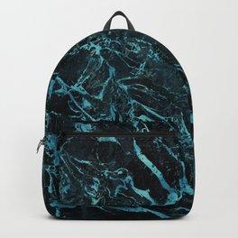 Black & Teal Color Marble Backpack