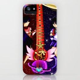Fusion Sailor Moon Guitar #27 - Sailor Mars & Sailor Saturn iPhone Case