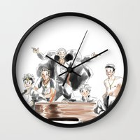 haikyuu Wall Clocks featuring Haikyuu!! Squad by Pruoviare