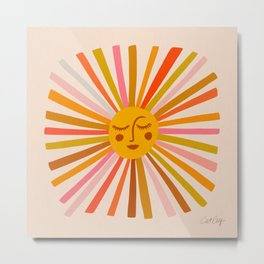 Sunshine – Retro Ochre Palette Metal Print