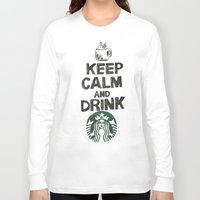 starbucks Long Sleeve T-shirts featuring Starbucks by jrgff