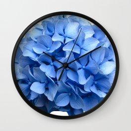 Nantucket Blue Hydrangea Flower Wall Clock