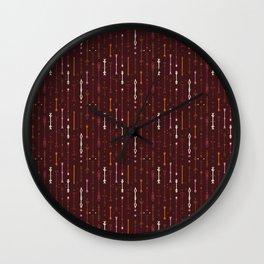 Scandi-Sticks B - Vertical - Fall Wall Clock
