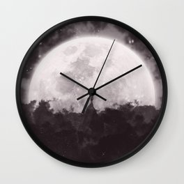 The Moon and I Wall Clock