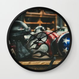 Helmets Wall Clock