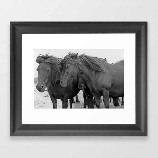 PONIES IN THE WIND Framed Art Print